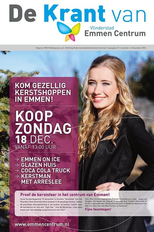 Cover 'De Krant van Vlinderstad Emmen Centrum' | december 2016