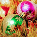 Christmas balls isolated by mikhafff1984