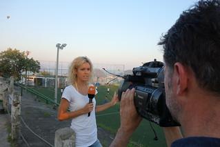 Filming at Prazeres soccer field, Rio de Janeiro