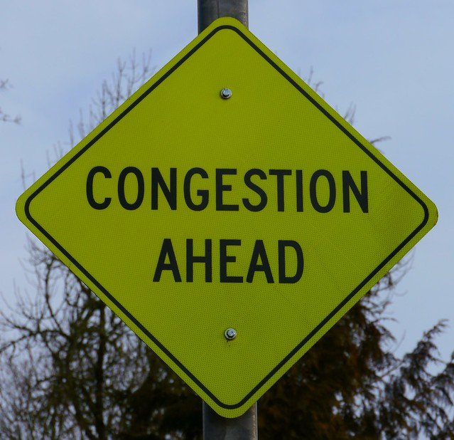 Congestion Ahead Sign