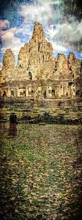 Image of Angkor Wat near Siem Reap. ankorarchaeologicalpark ankorthom bayontemple cambodia exteriors ghostly holidays mangojouneys topazlabs