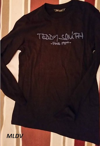 t.shirt teddy smith noir