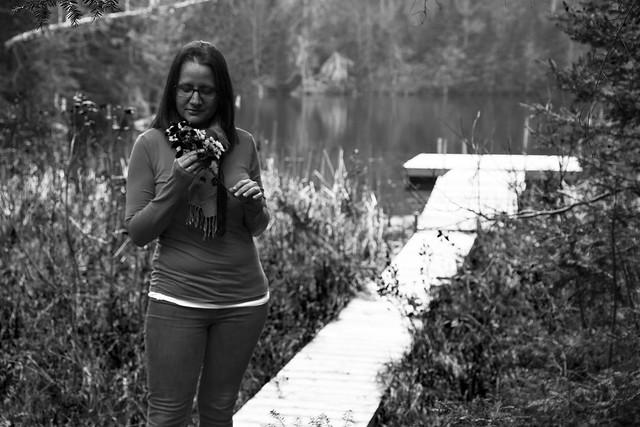 Annie by the lake