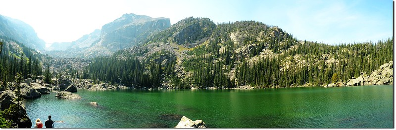A panoramic of Lake Haiyaha