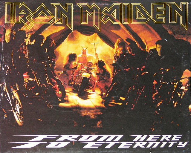 "IRON MAIDEN From Here To Eternity Fold-Out PosterBag 12"" Vinyl LP"