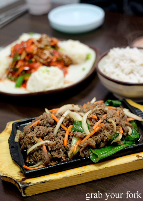 Bulgogi beef at O Se Yo, Lidcombe