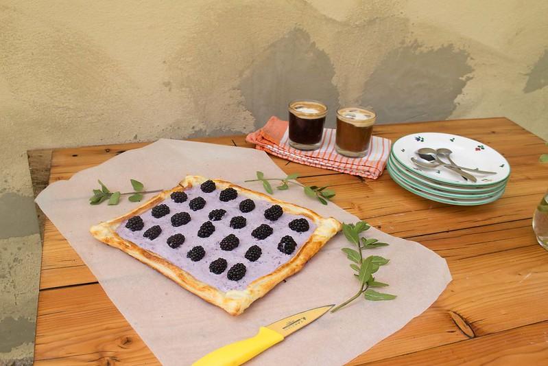 brombeer-tarte mit minze
