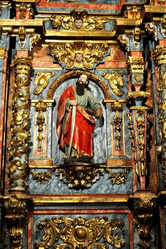Vega de Villafufre (Villafufre-Cantabria). Iglesia. Retablo. San pedro