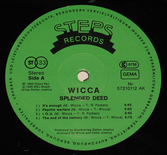 "WICCA SPLENDED DEED 12"" LP"