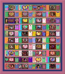 This is the 8th Annual 2015 Digital Breast Cancer Awareness Quilt - a group project on Flickr!