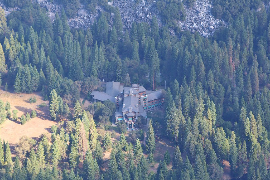 The Ahwahnee Hotel From Glacier Point