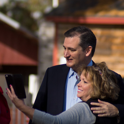 Ted Cruz taking a selfie