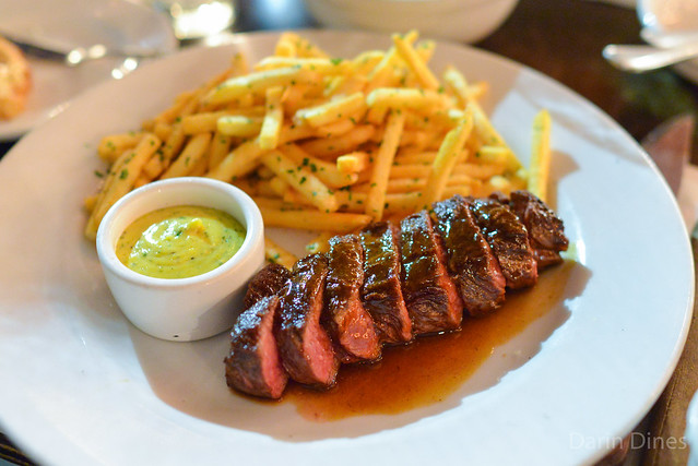 Steak Frites strauss family farm grass fed flat iron steak, sauce béarnaise