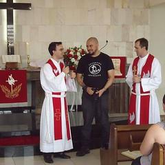 Com meus pastores hoje na confirmação dos nossos alunos do Catecismo..