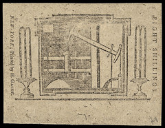 """1775. Eight Shillings. """"New-York Water Works"""" back"""