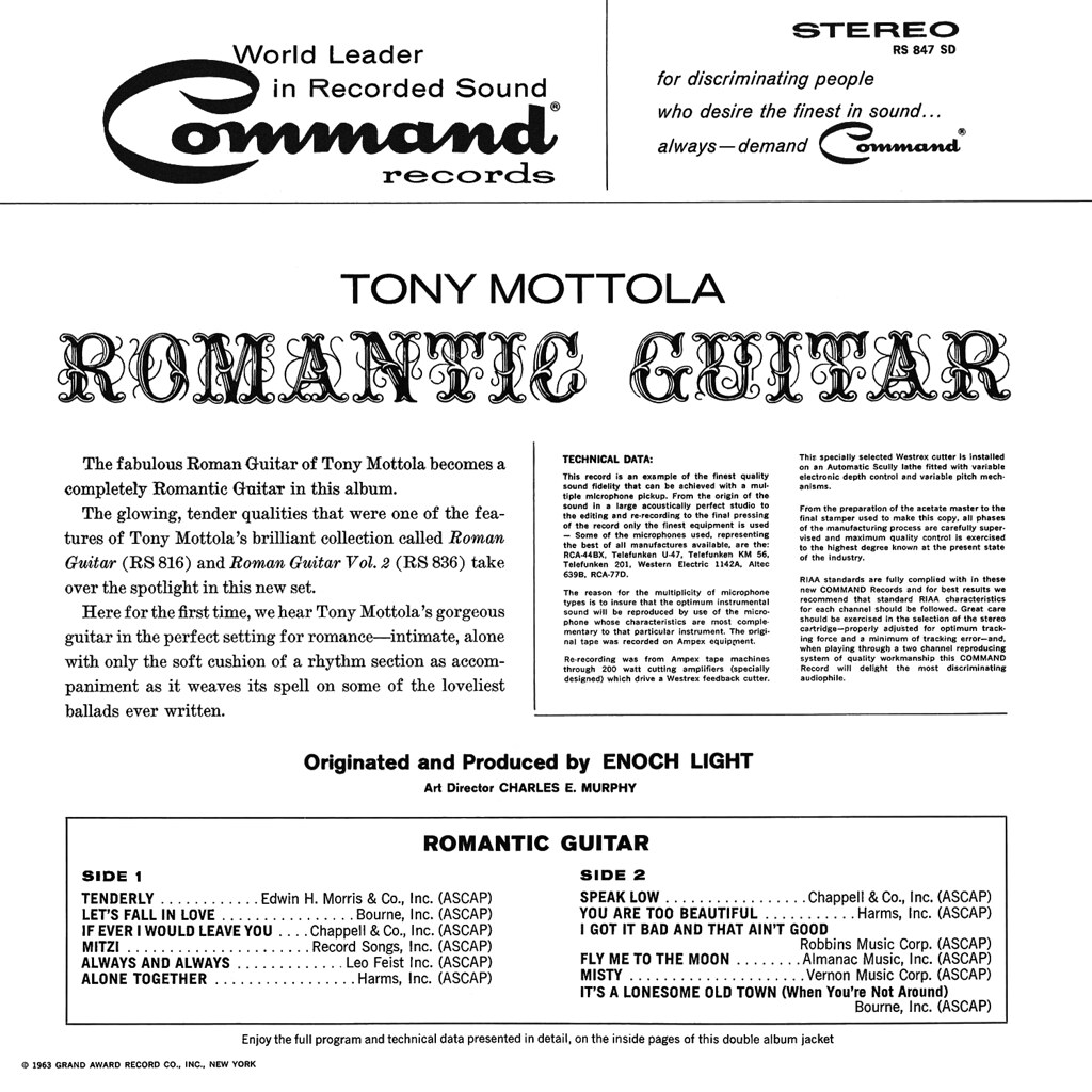 Tony Mottola - Romantic Guitar