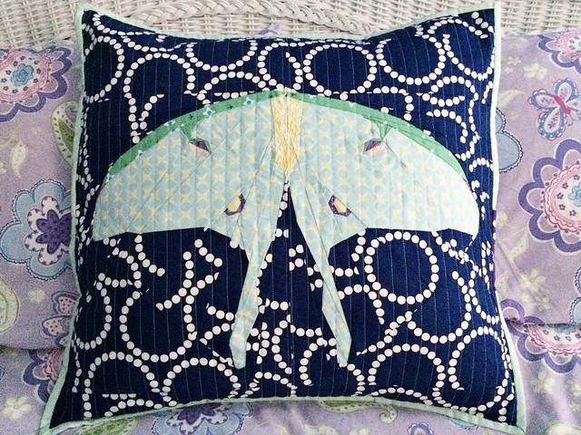 Luna Moth Pillow
