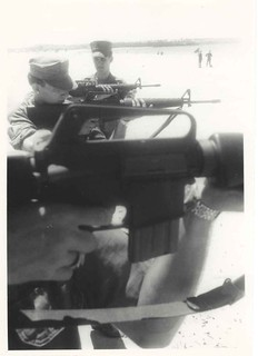 Carey Daly Instructs Marines on M-16 Rifle, June 1967