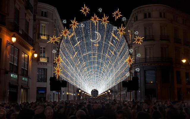 Street lighting Malaga christmas