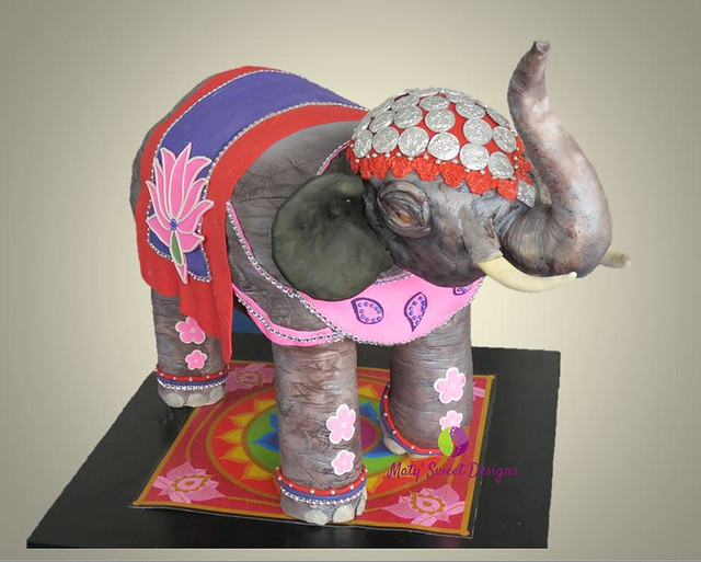 Elephant Cake Design by Maty Duque of Maty Sweet Designs