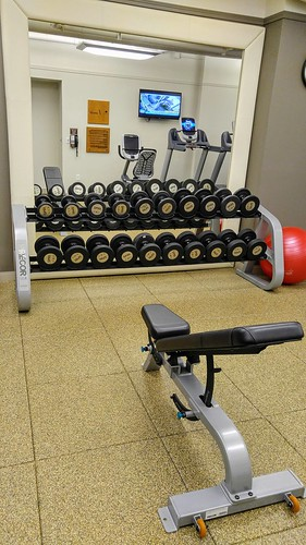Weights and Weight Bench at the Arctic Club Seattle