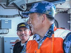 Chinese delegation during tour on board of ESPS Galicia