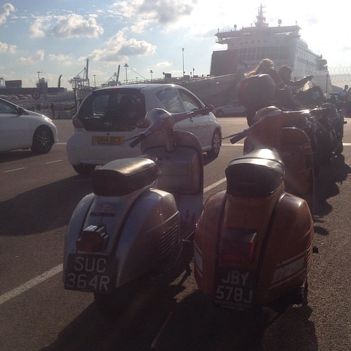 Returning home from @maskesvespaklassiekers classic vespa rally #vespa #vespamore #roadtrip