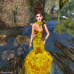 "Glam Dreams ""Nany"" Lemon Gown"