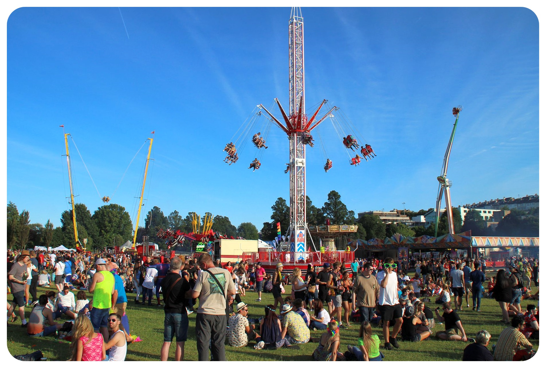 brighton pride festival grounds carousels