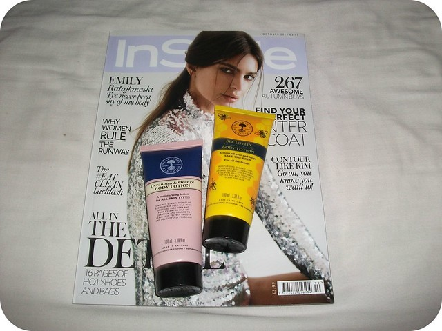 October Magazine Freebies InStyle Neal's Yard Remedies Body Lotion Emily Ratajkowski