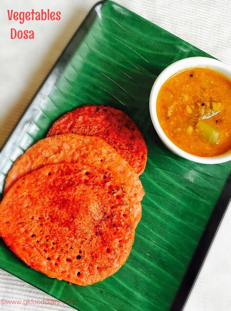 Vegetables dosa for baby1