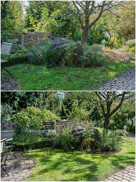 Garten vormittags/nachmittags