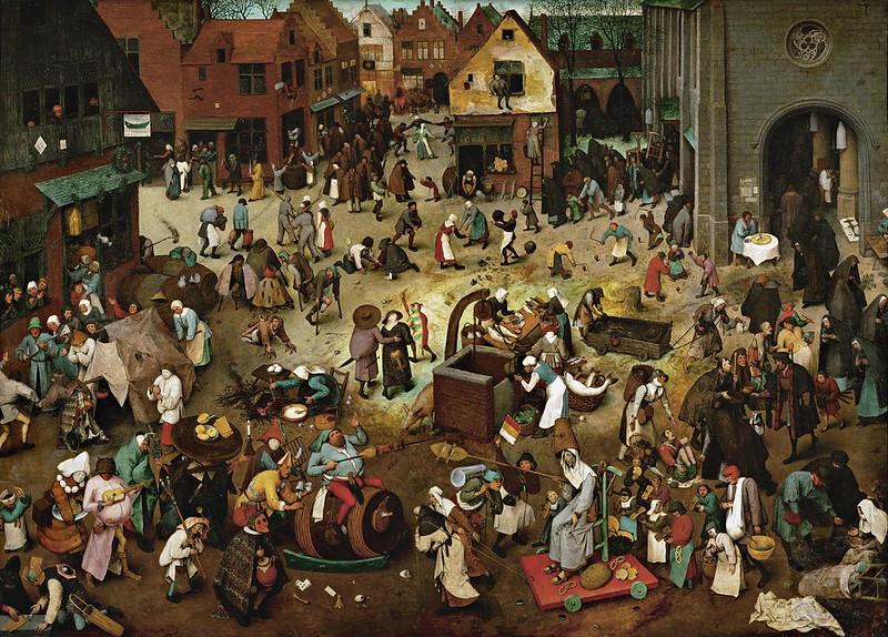 Pieter Brueghel el Vell - Batalla de la Quaresma i Carnestoltes (1559)