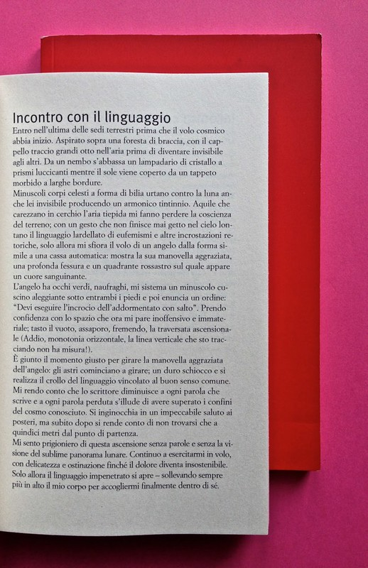Edizioni del Verri / Collana rossa. Progetto grafico di Valerio Anceschi e Giovanni Anceschi. Incipit, a pag. 5 (part.), 2