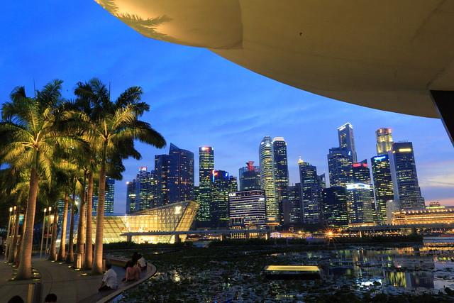 新加坡之旅-day04滨海湾花园与夜景   [code][/code]   拍摄夕阳.