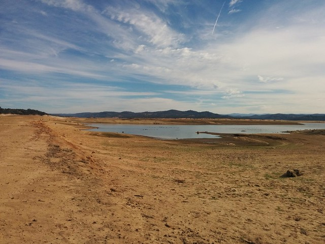 Folsom Lake is really low right now.