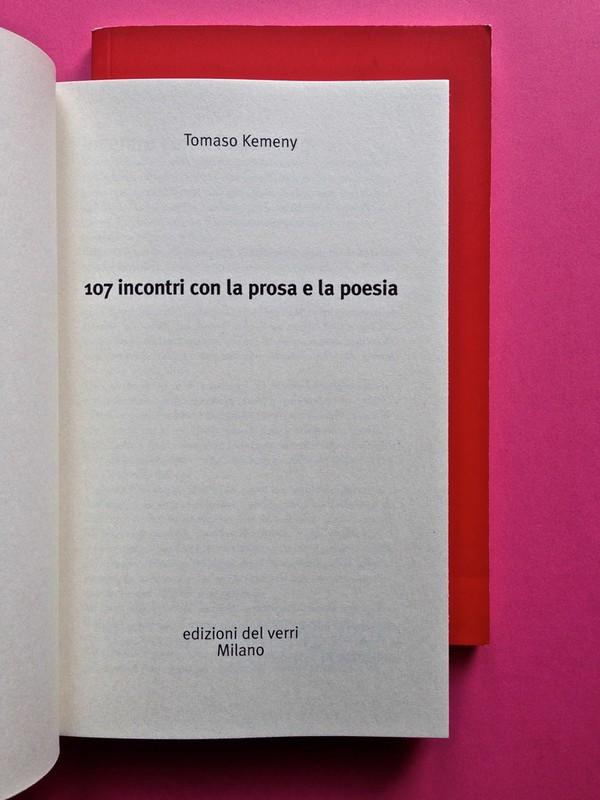 Edizioni del Verri / Collana rossa. Progetto grafico di Valerio Anceschi e Giovanni Anceschi. Frontespizio, a pag. 3 (part.), 1
