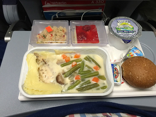 Air Berlin airplane dinner