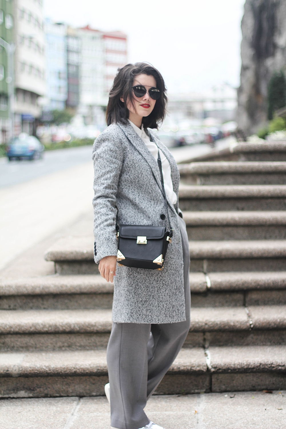 total look gris la redoute collection invierno 2016