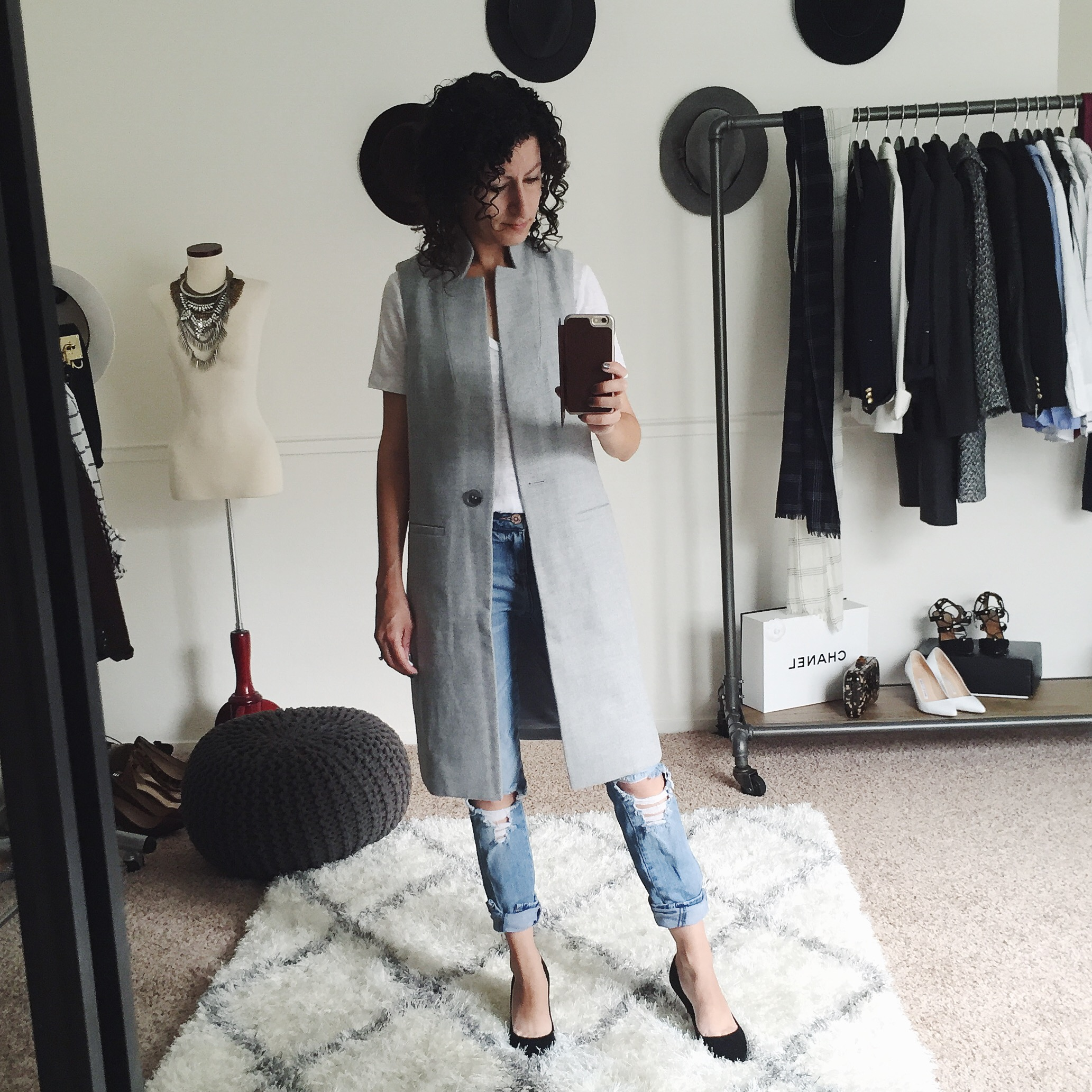 white house black market petite long vest fit review