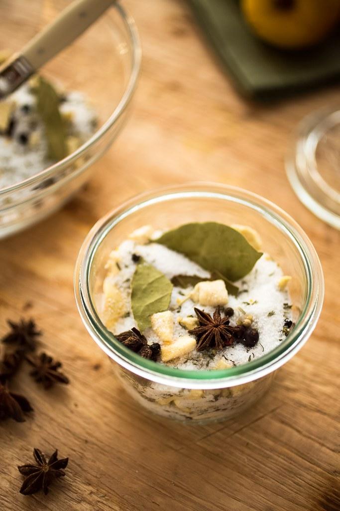 turkey brine mix in a canning jar