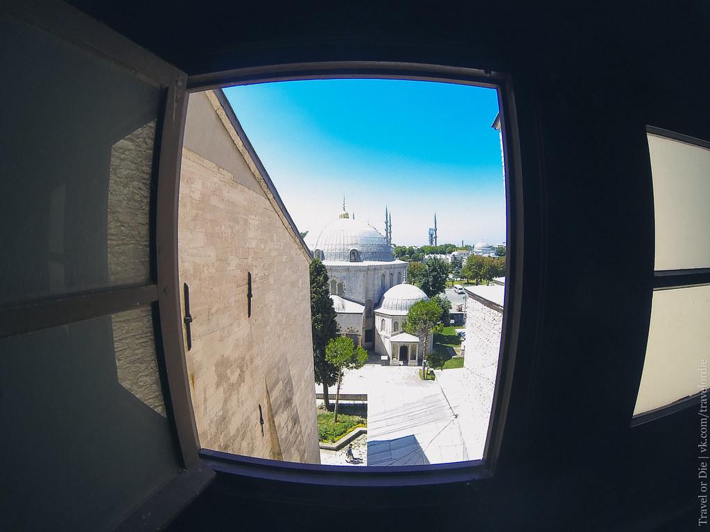 Ayasofya Museum window view / Вид из окна Собора Святой Софии