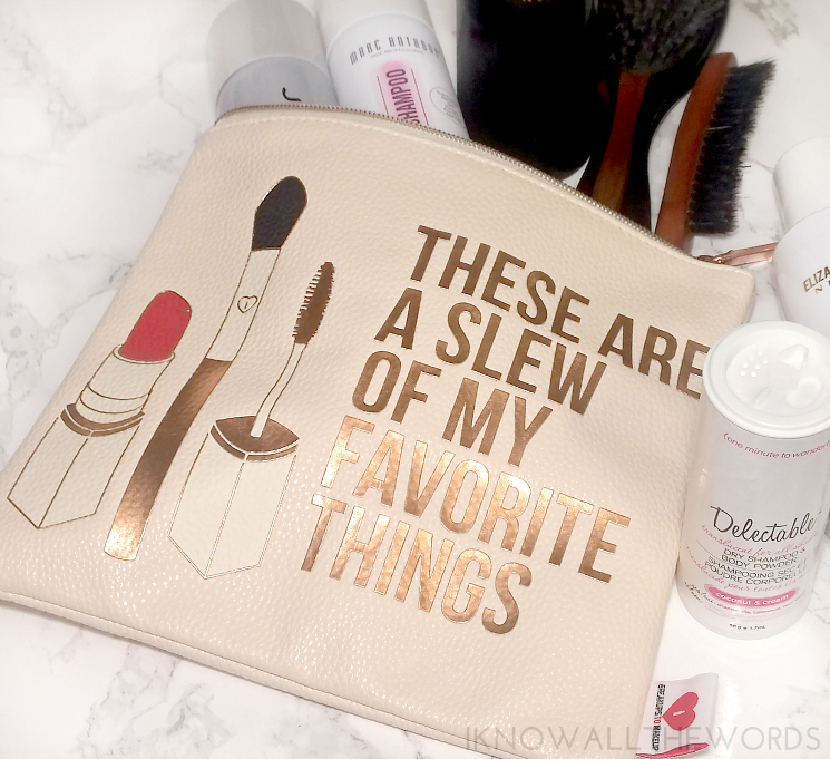 the dry clean breakups to makeup holiday bag gold