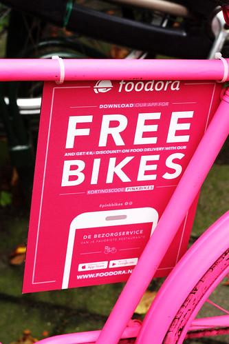 Free bikes in Amsterdam ad