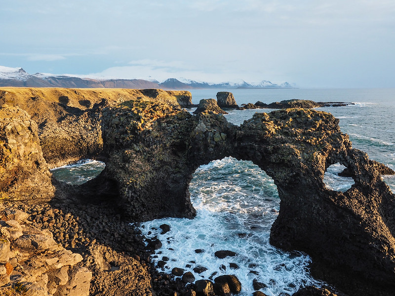 Gatklettur sea arch on the Snaefellsnes Peninsula