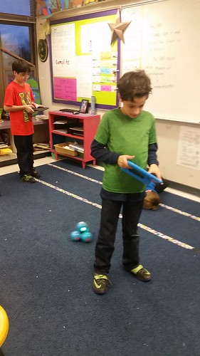 Hour of Code, Dash, finger puppets, Junk box, construction toys