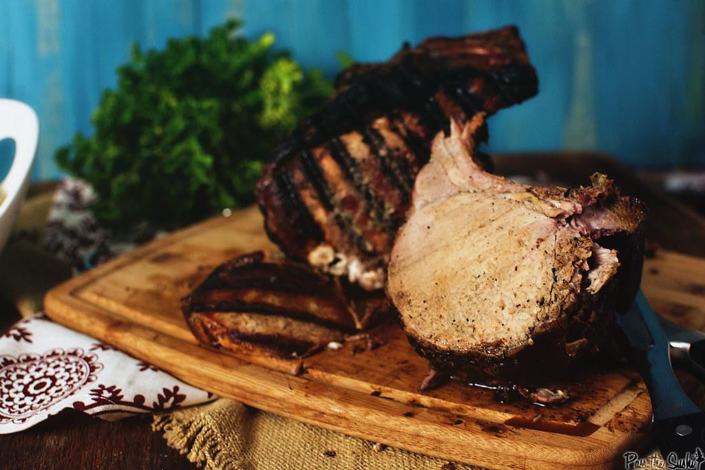 Charcoal Grilled Pork Roast | GirlCarnivore.com