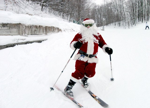 Ski with Santa at Shanty Creek
