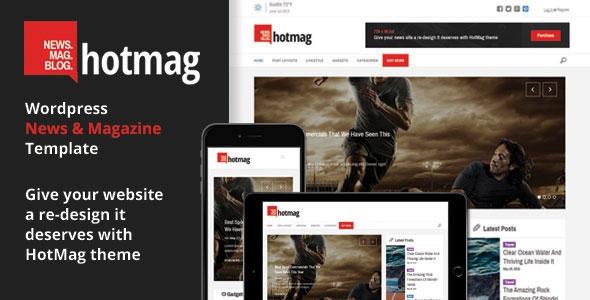 HotMag v1.9 - Wordpress News, Magazine Responsive Theme