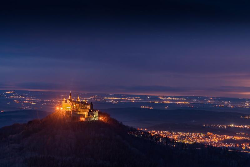 Burg Hohenzollern blue hour